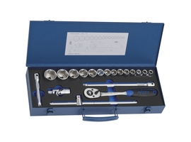 Socket wrench set 19 pieces